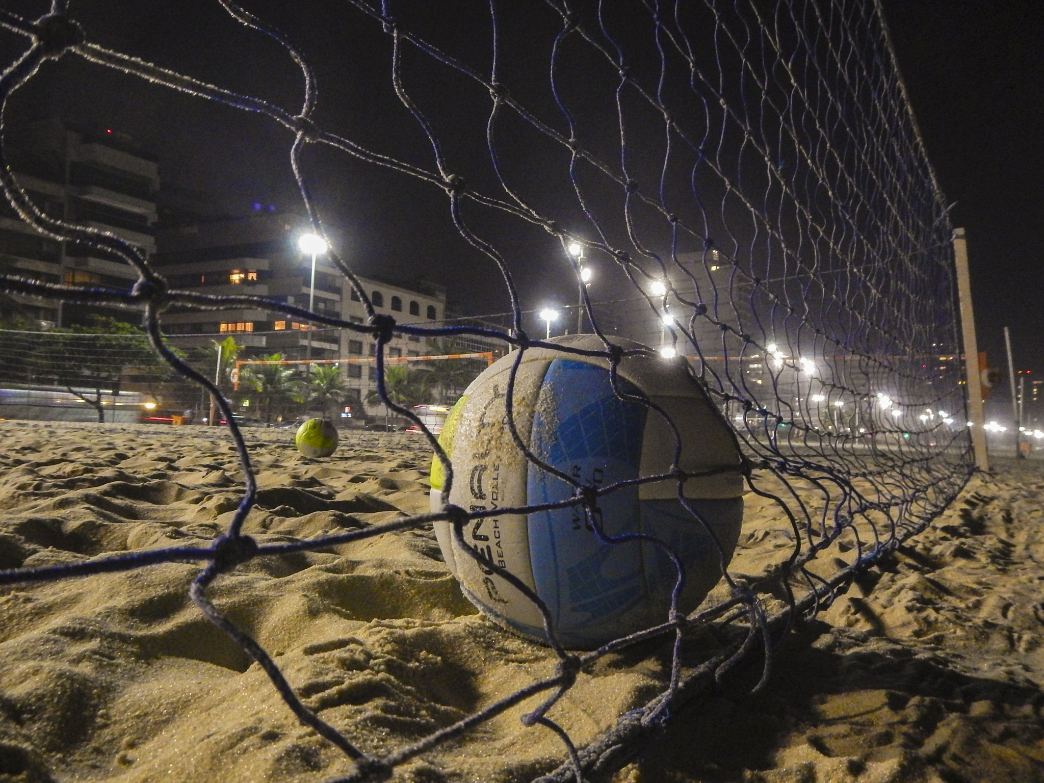 Ipanema beach at night by Marcelo Zal Riani