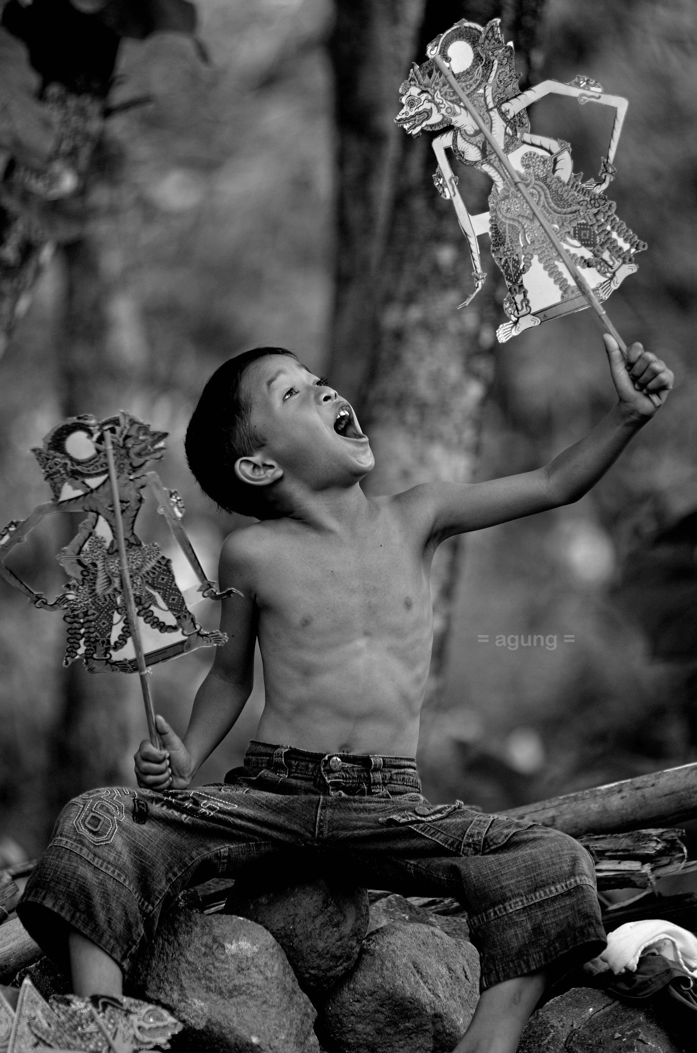 """LITTLE """"DALANG"""" (puppet master) by agungdku"""