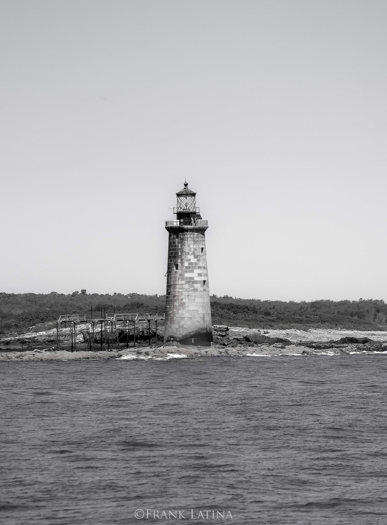 Maine lighthouse. Kennebunkport  by Frank Latina