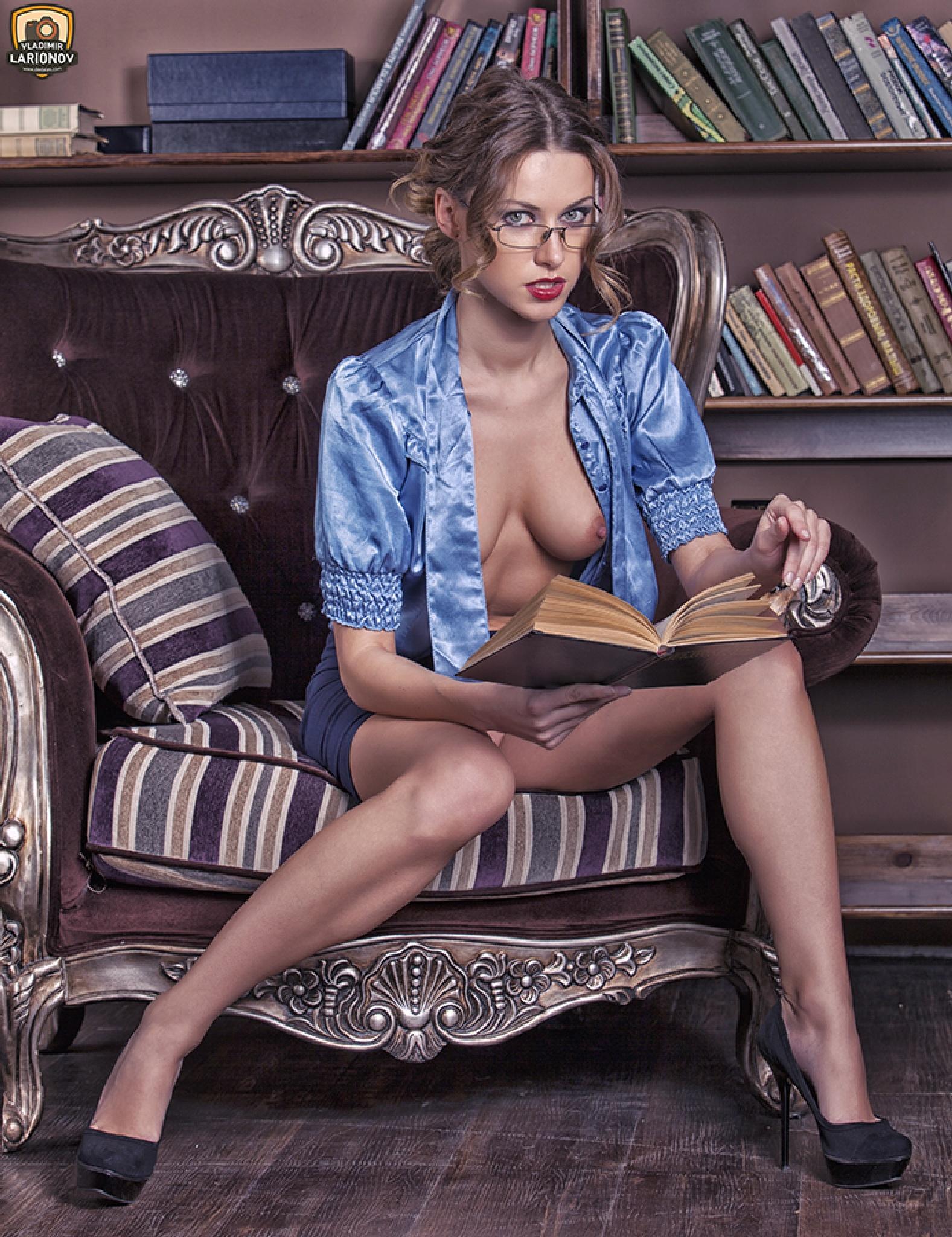 The librarian by Vladimir Larionov