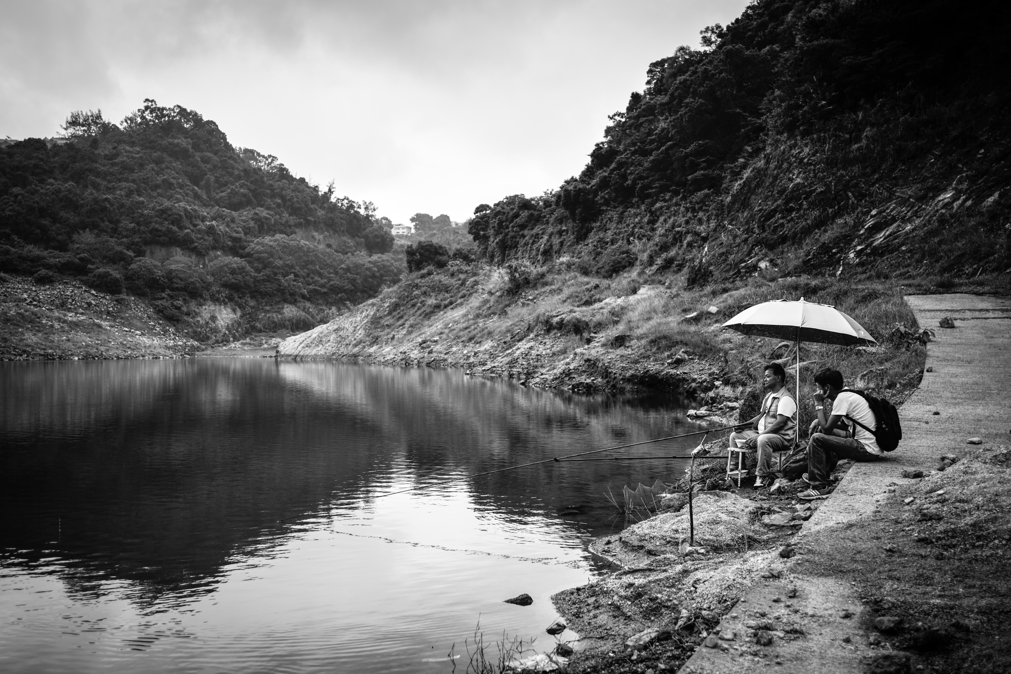 Lower Shing Mun Reservoir by Alan Wat