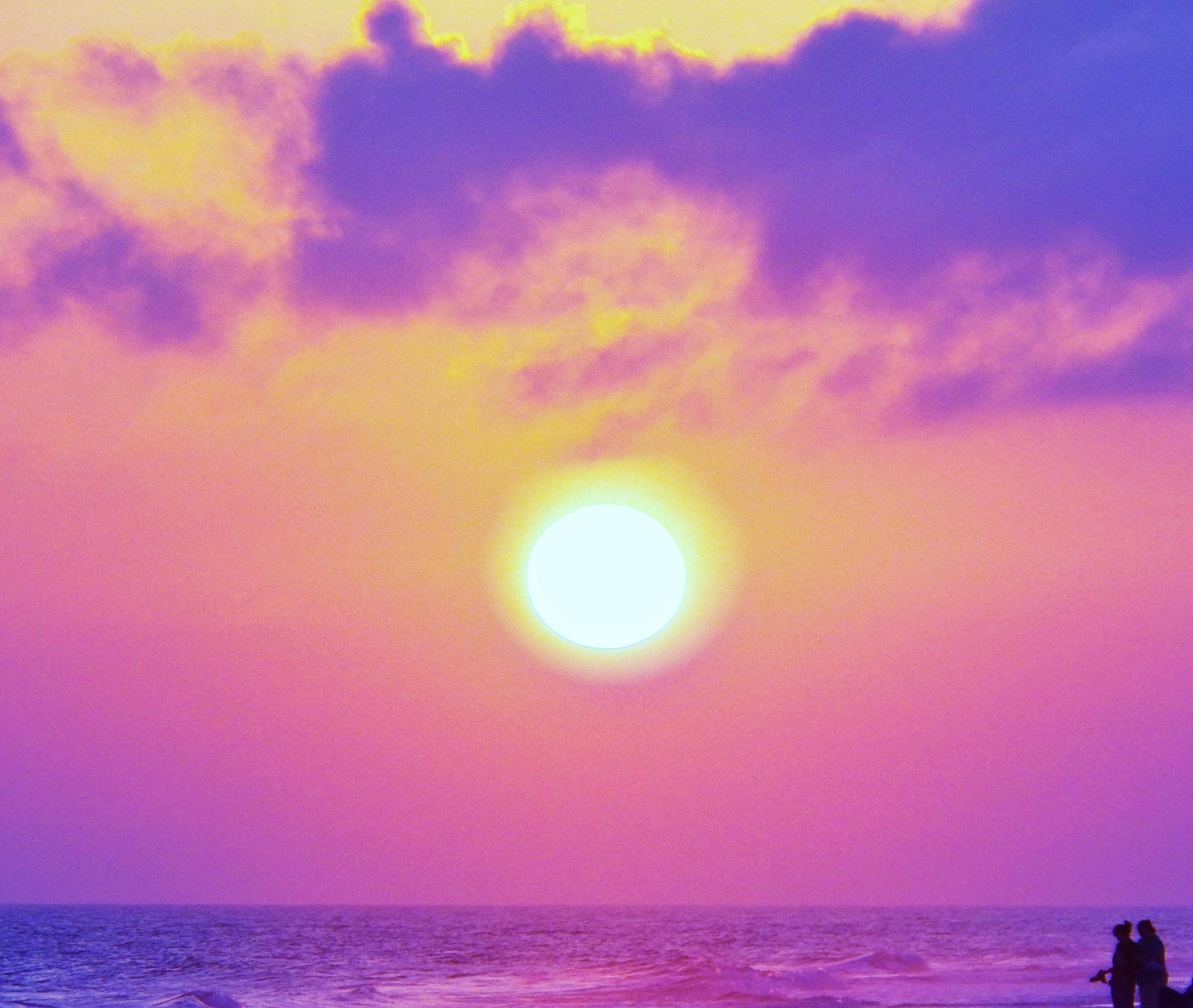 the rainbow sunset by jajapraha