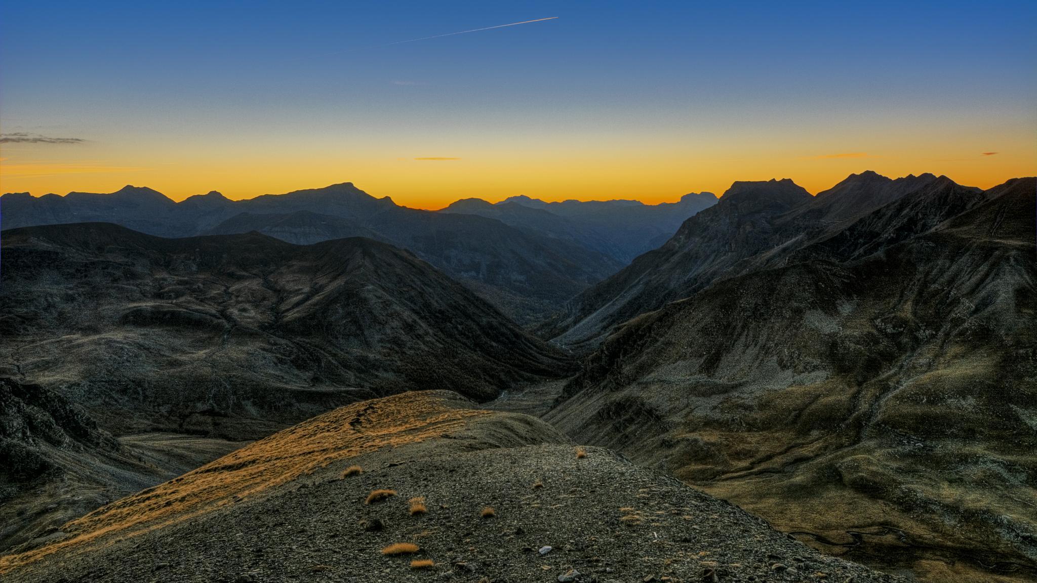 Sunset Col de la Bonette by gilles couturier