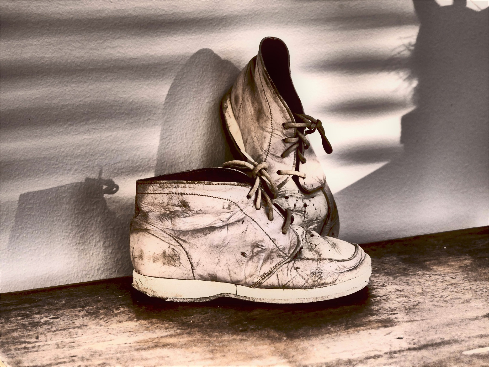 My old shoes! by Cicki Jarneberg