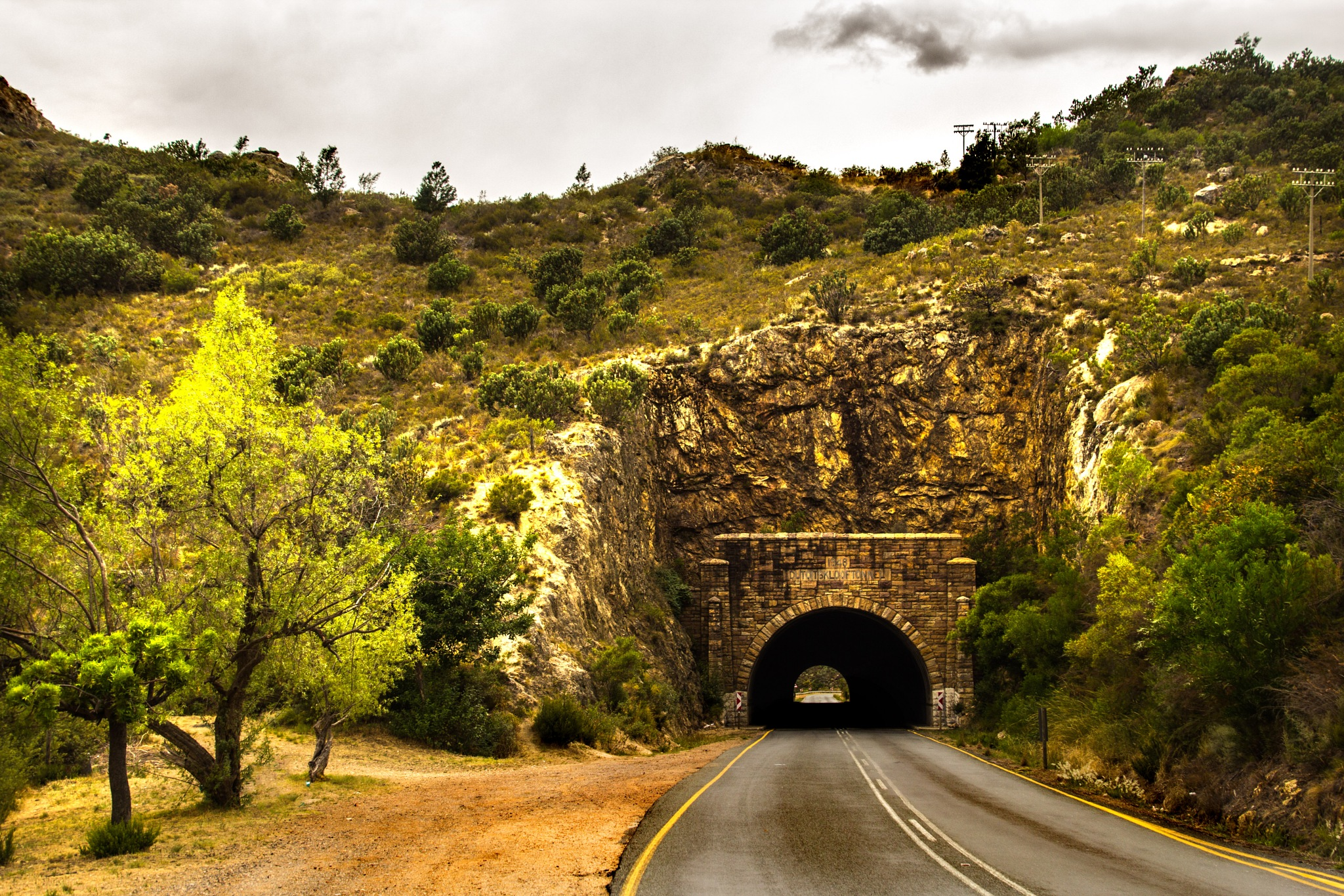 The old tunnel in Du Toit's kloof pass by Nauta Piscatorque