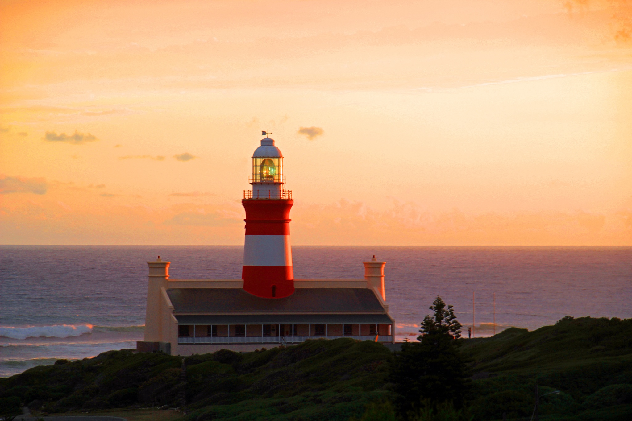 Photo in Landscape #lighthouse #sunset #cape agulhas