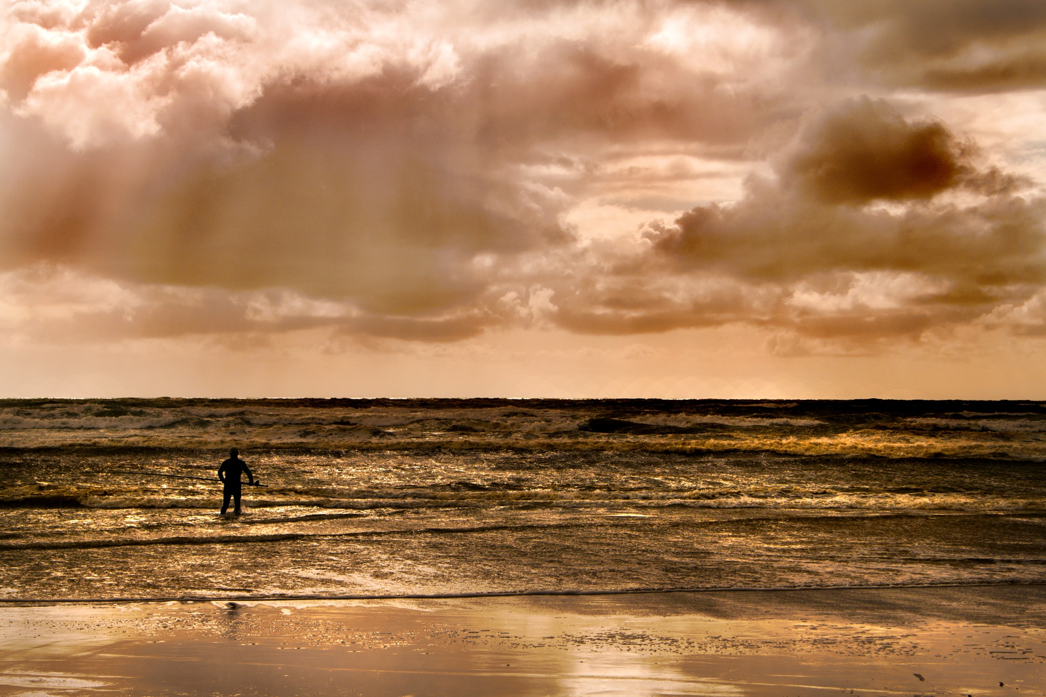 Fisherman and clouds by Nauta Piscatorque