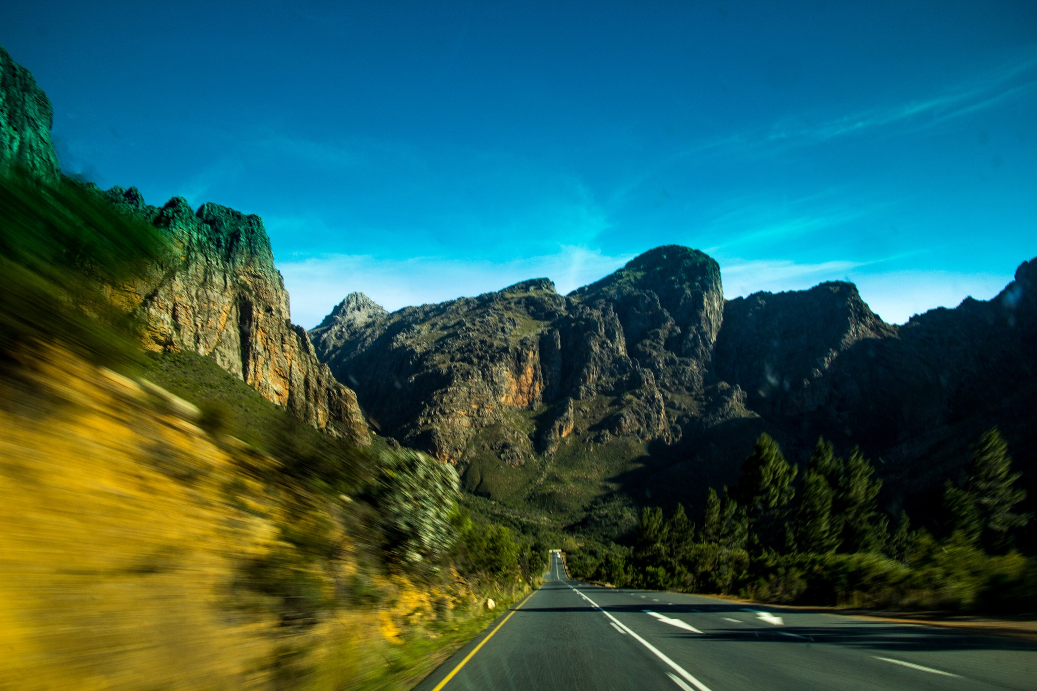 speeding down the mountain pass by Nauta Piscatorque