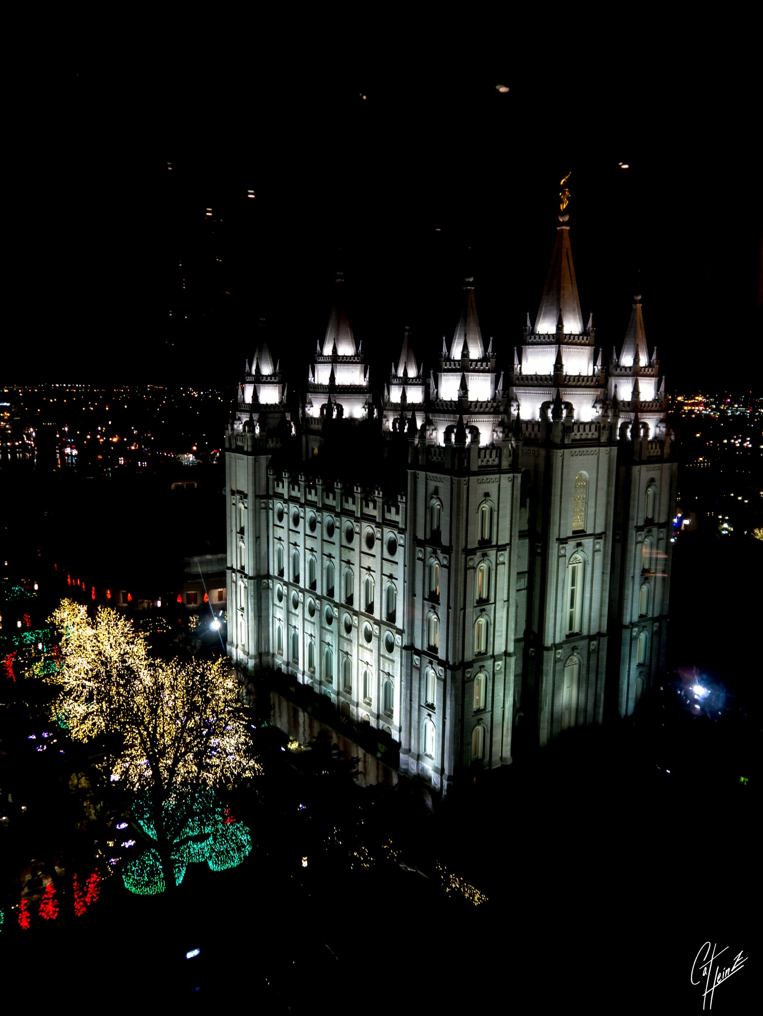 Temple from the Joseph Smith Memorial Building by Cat Heinz
