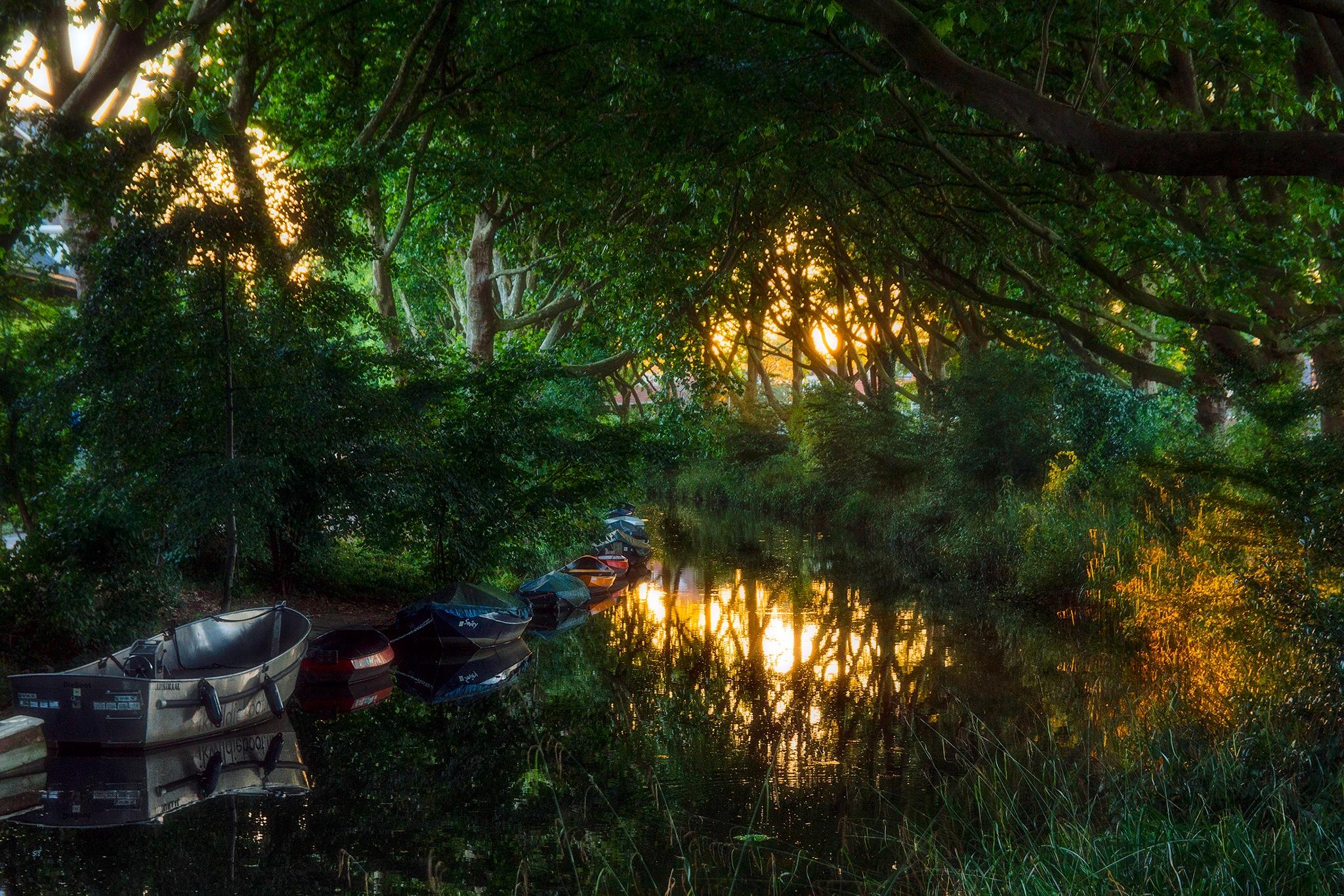 The river the Grift in Utrecht by Wim Van De Meerendonk