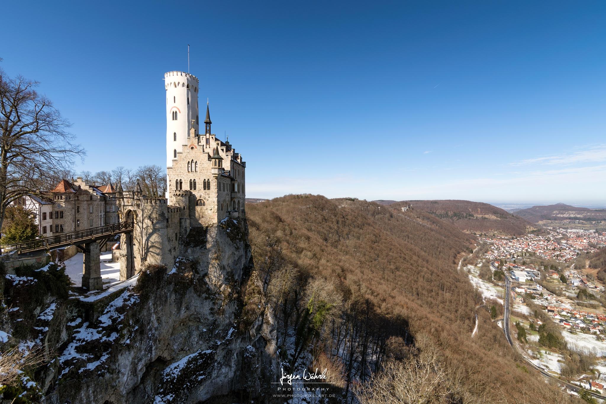 Castle Lichtenstein by Jürgen Wöhrle by Photo-Pixelart