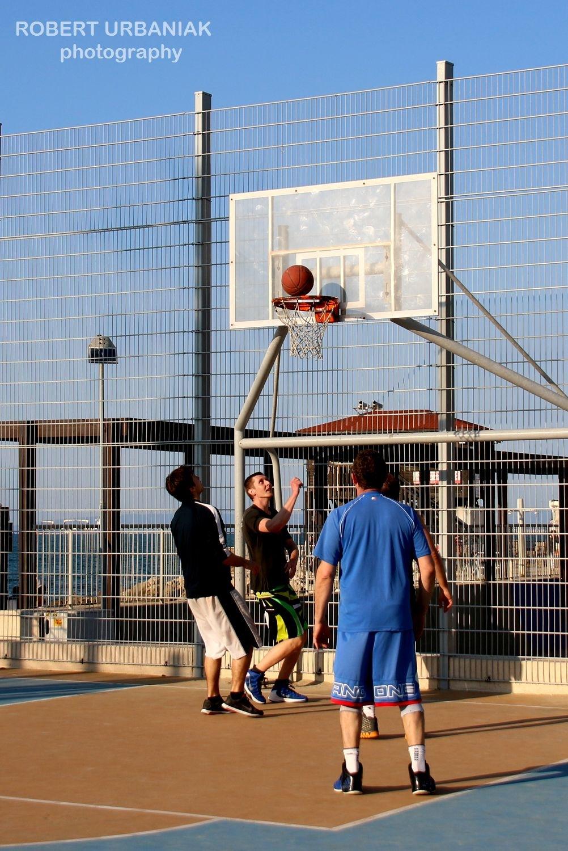ball in the basket by Robert Urbaniak