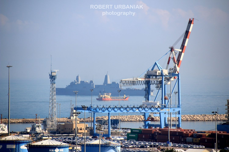 Haifa harbour by Robert Urbaniak