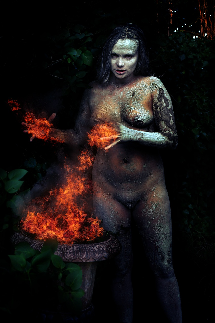 Edena-Nimueh fire witch by Hybryds
