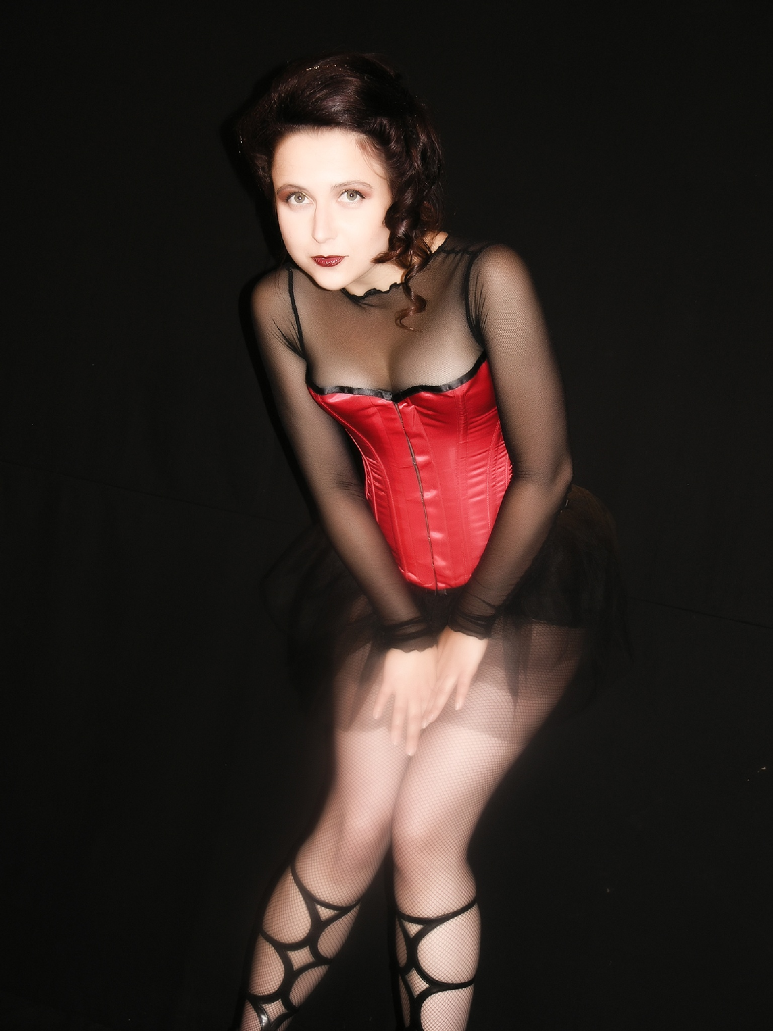 red corset girl by Hybryds