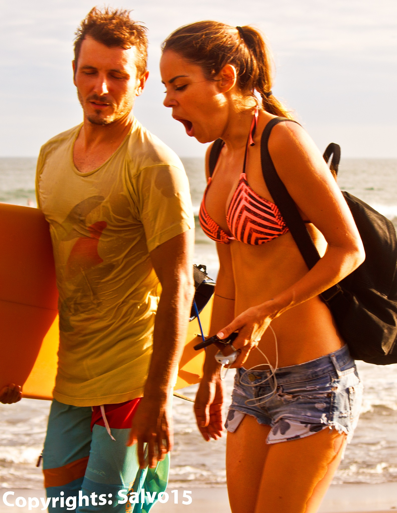 Couple and the Idea of Surfing by Salvo