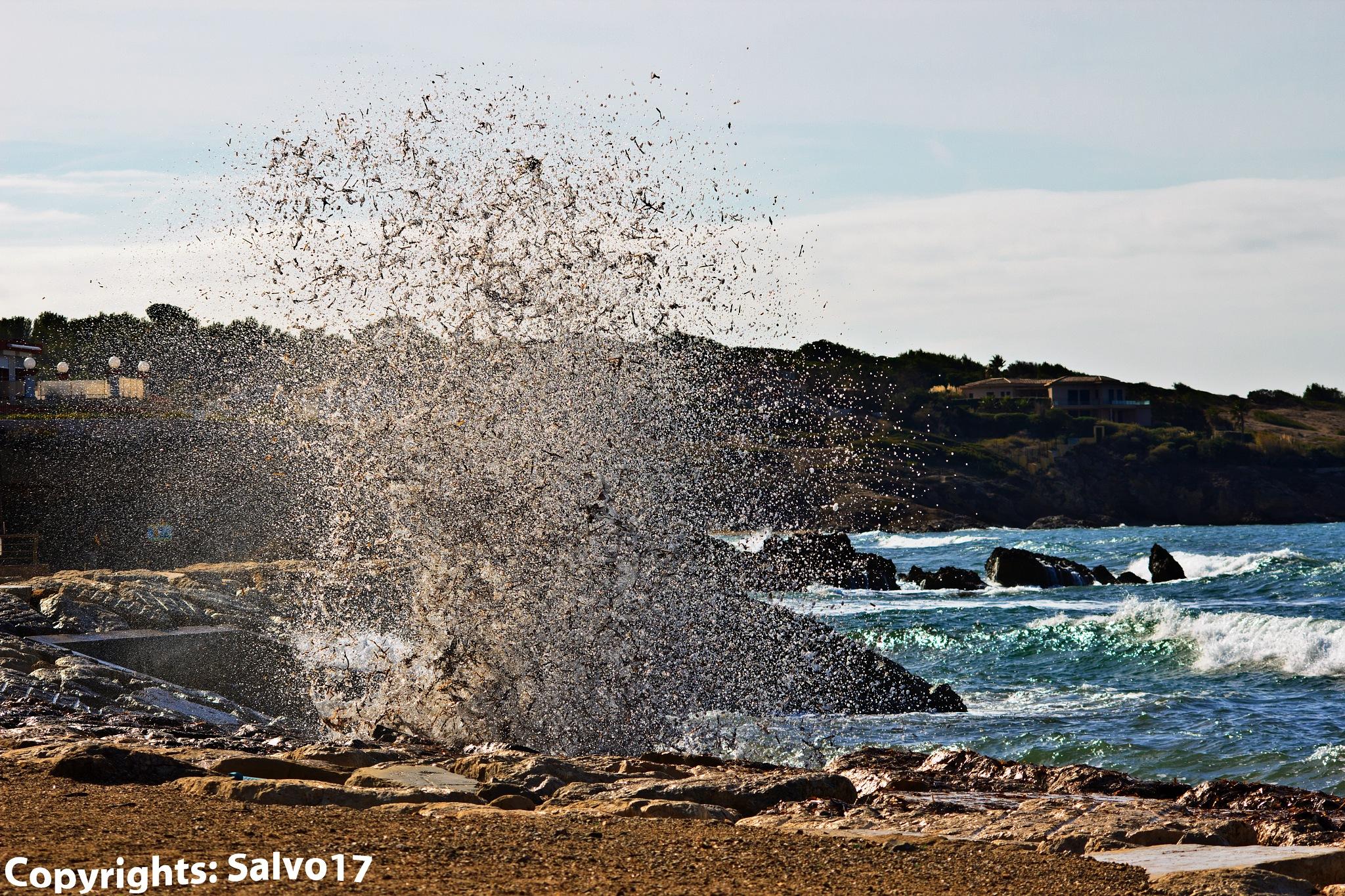 Photo in Sea and Sand #algae #seaweed #posidonia #waves #sea #mediterranean sea #seascape #movement #splash #freeze #on the spot #provence #environment #breath #bio