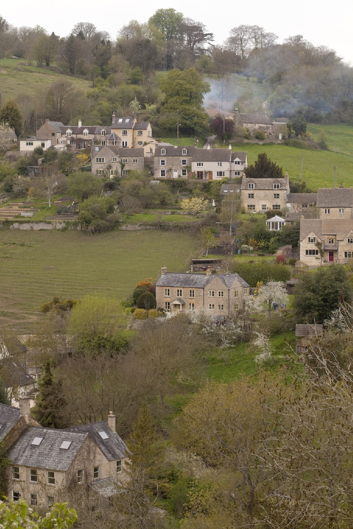 Houses Cascading down a Hill by JaneCampbell21