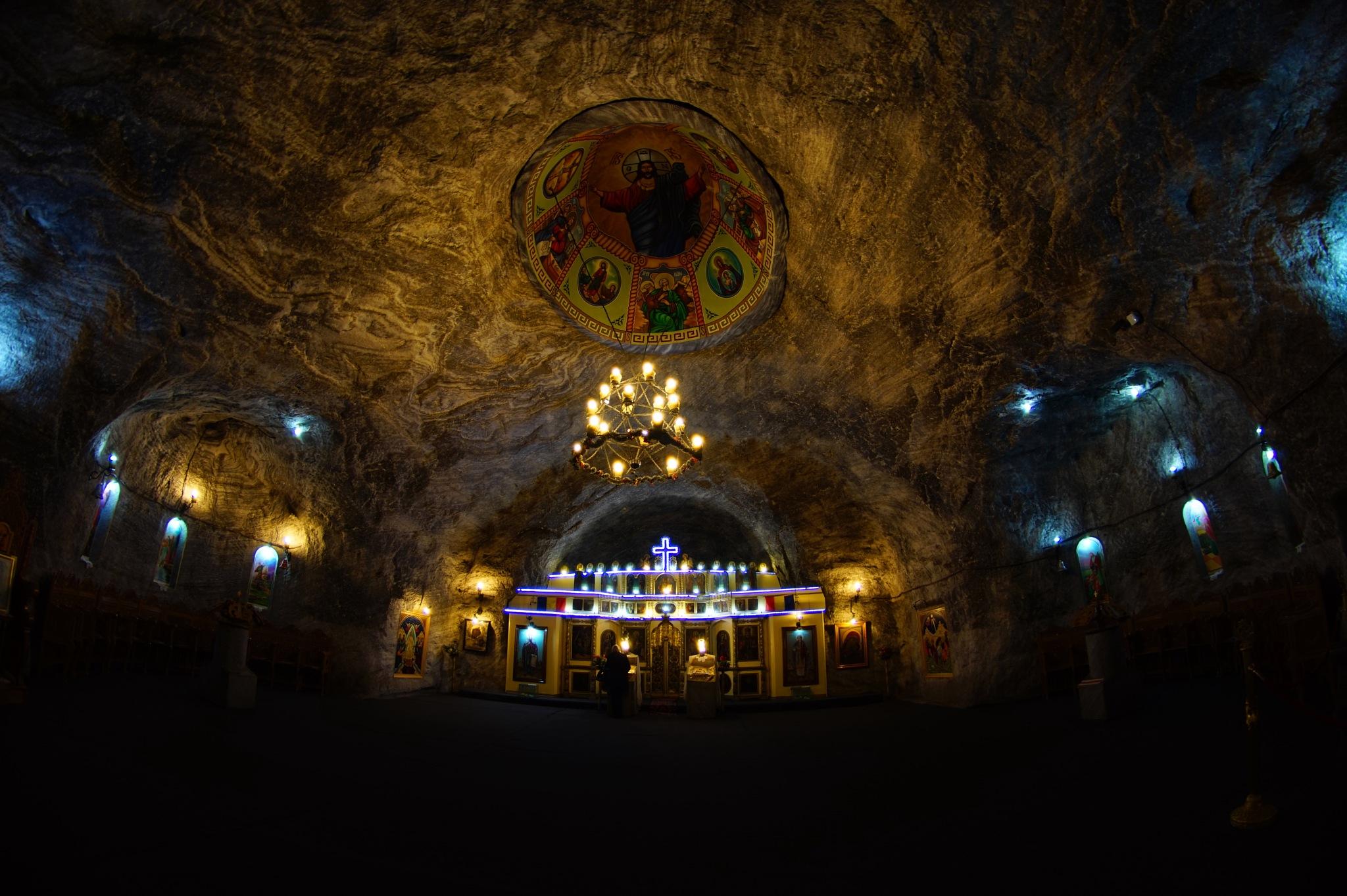 Salt mine church by Sorin Gudumac