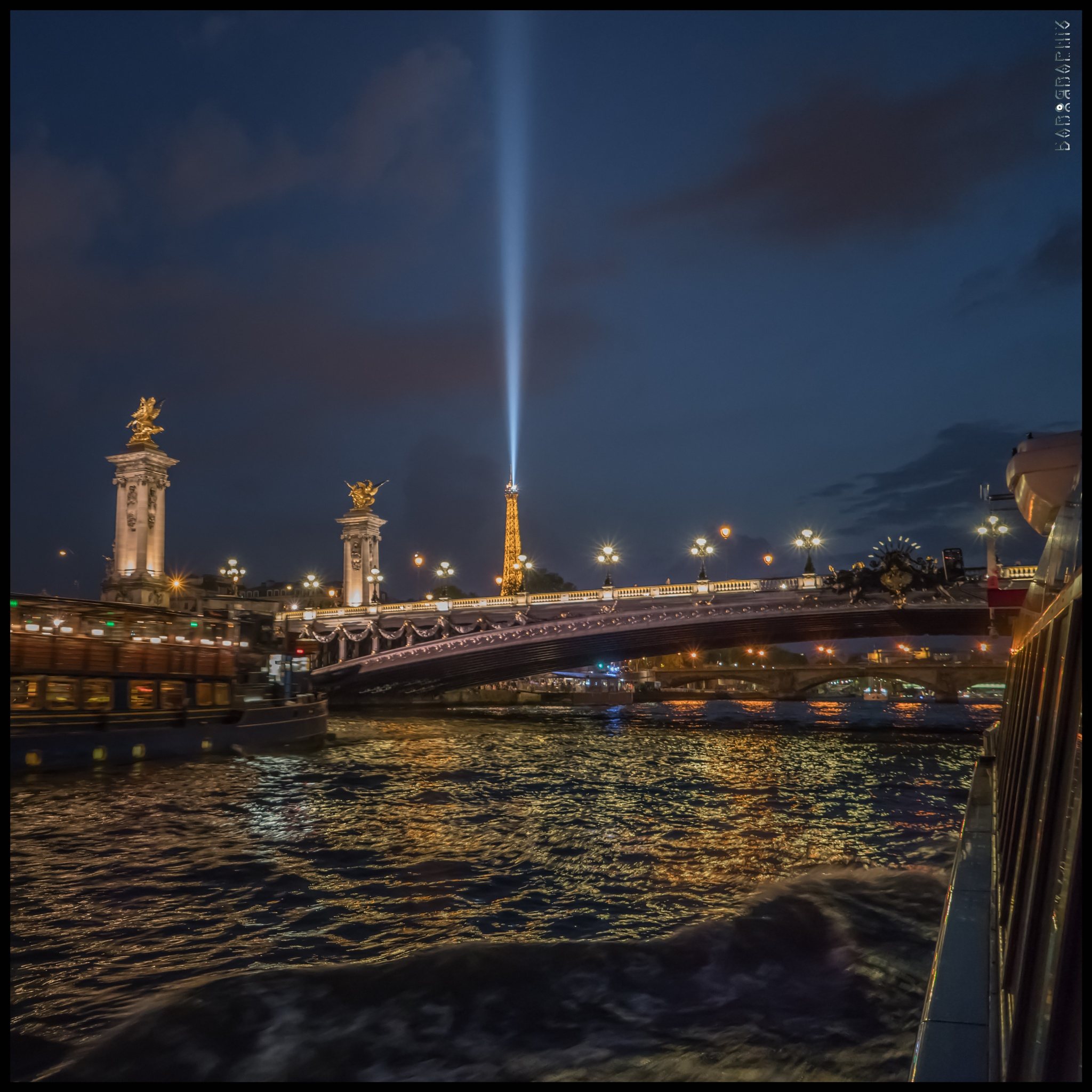 Photo in Architecture #eiffel #night shot #cityscape #lightscape #bridge #river #paris #france #eiffel tower
