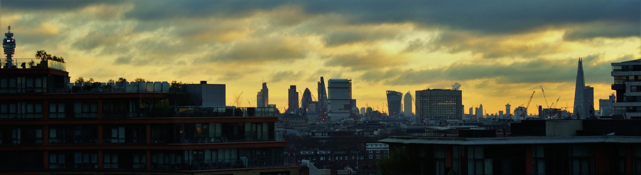 London Skyline Sunrise by Tracy Bruce