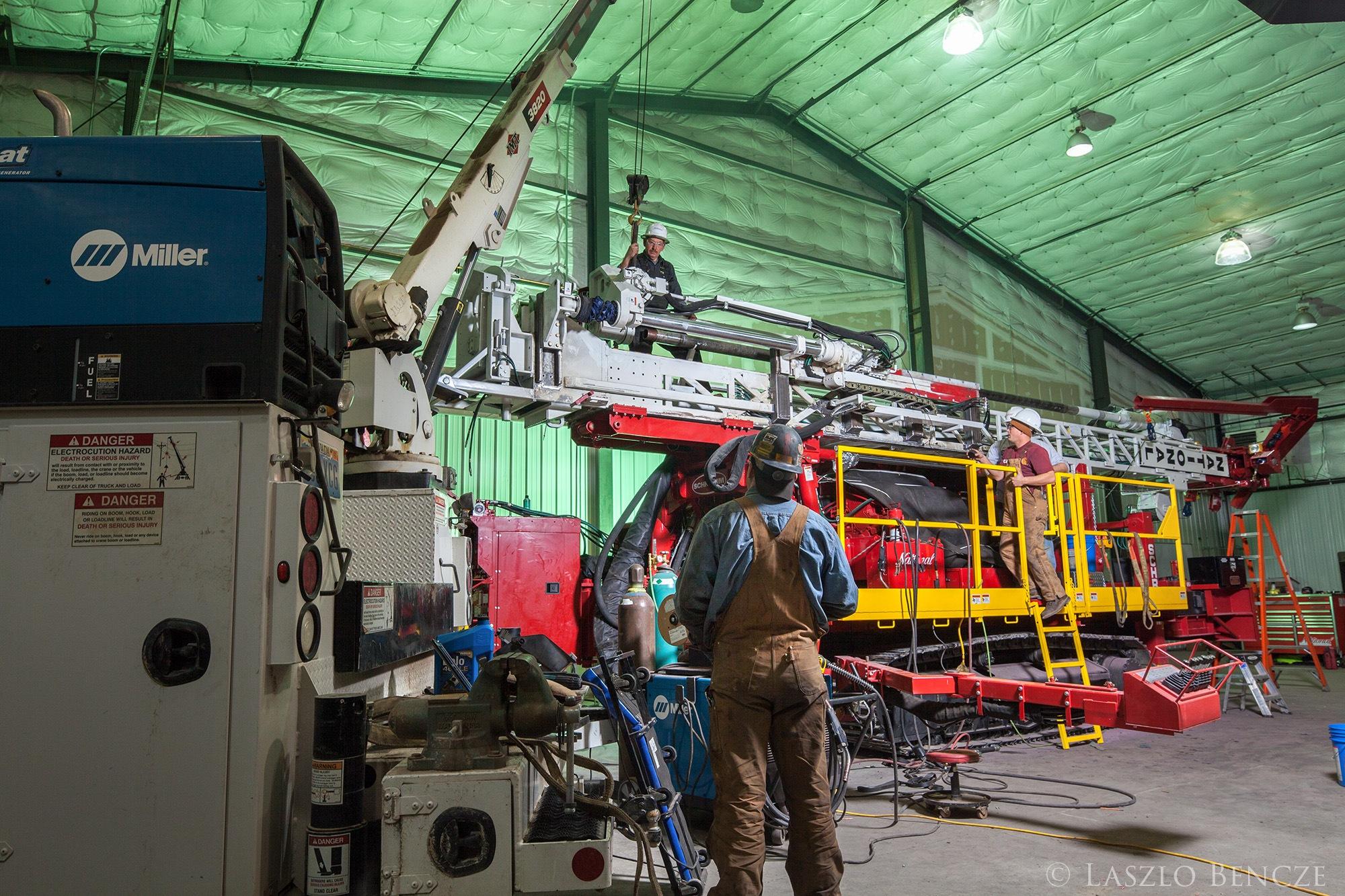 Drill Rig Repair by Laszlo Bencze