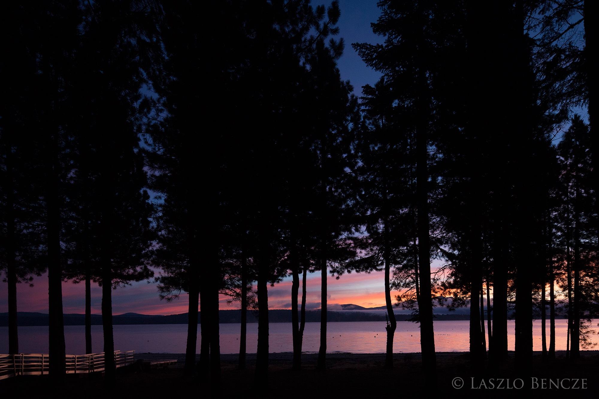 Almanor Lake Sunrise by Laszlo Bencze