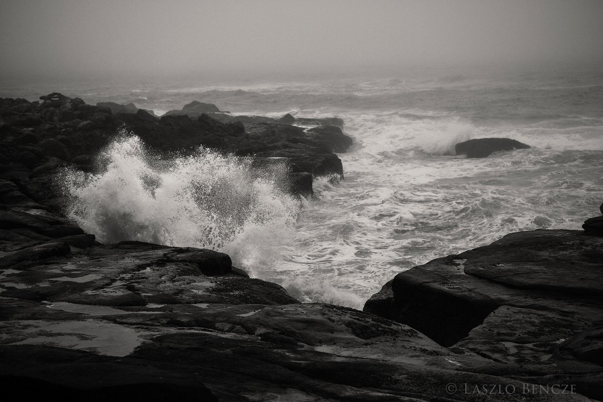 Oregon Coast Waves by Laszlo Bencze