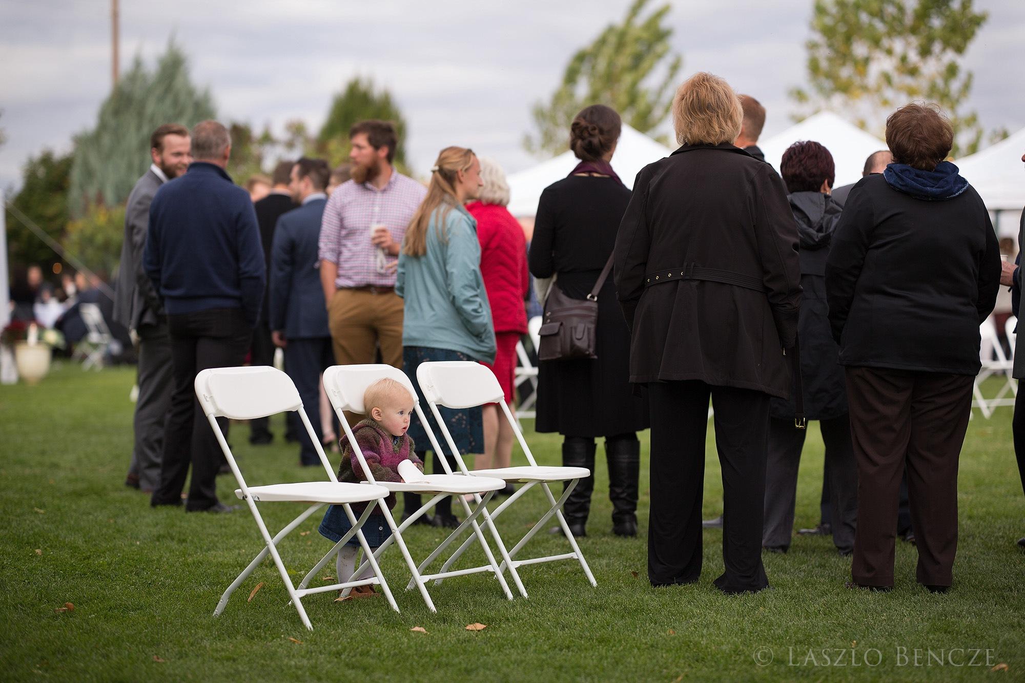 Wedding, #22, Baby in Chairs by Laszlo Bencze