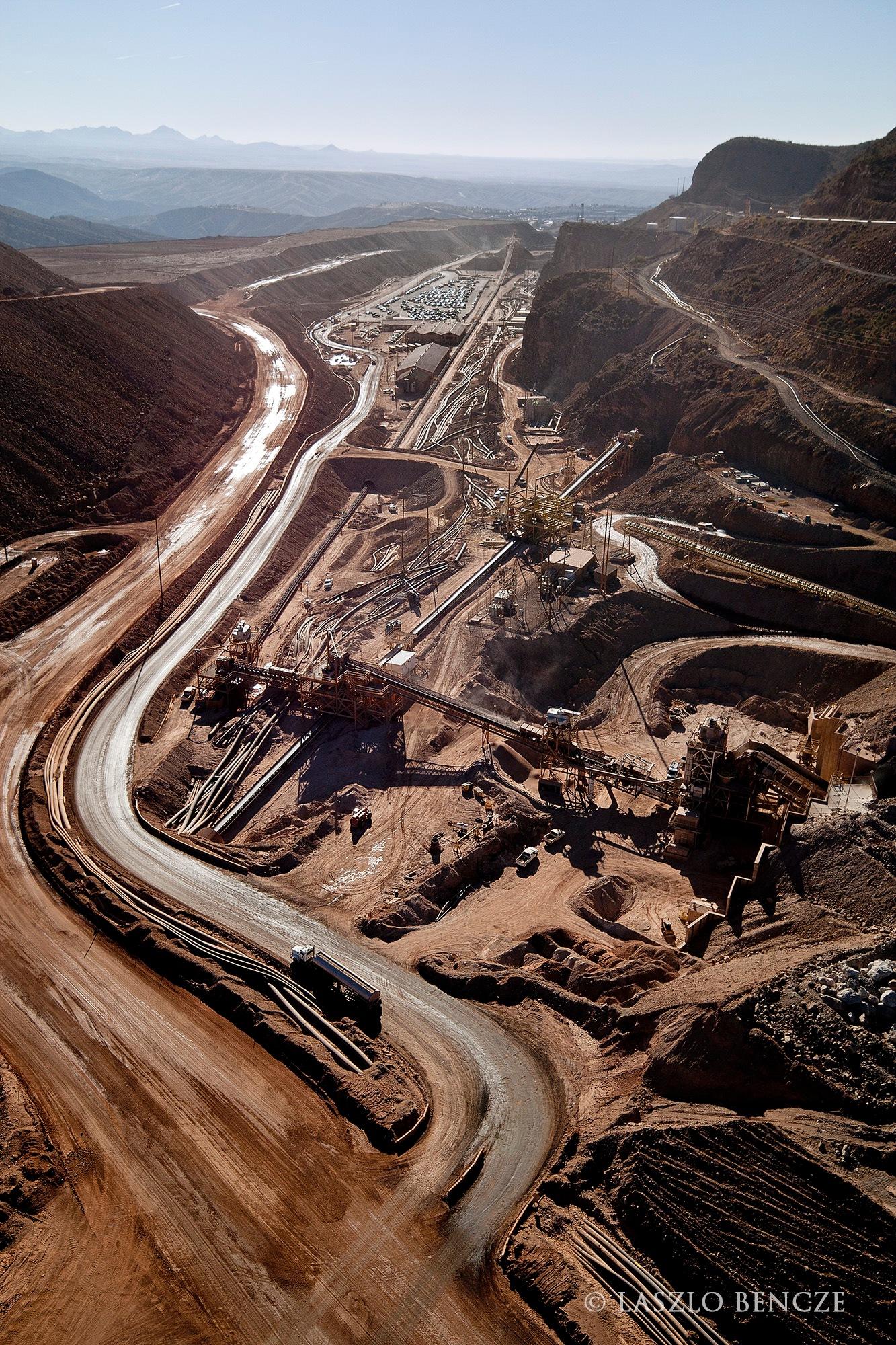 Mine Activity, Arizona by Laszlo Bencze