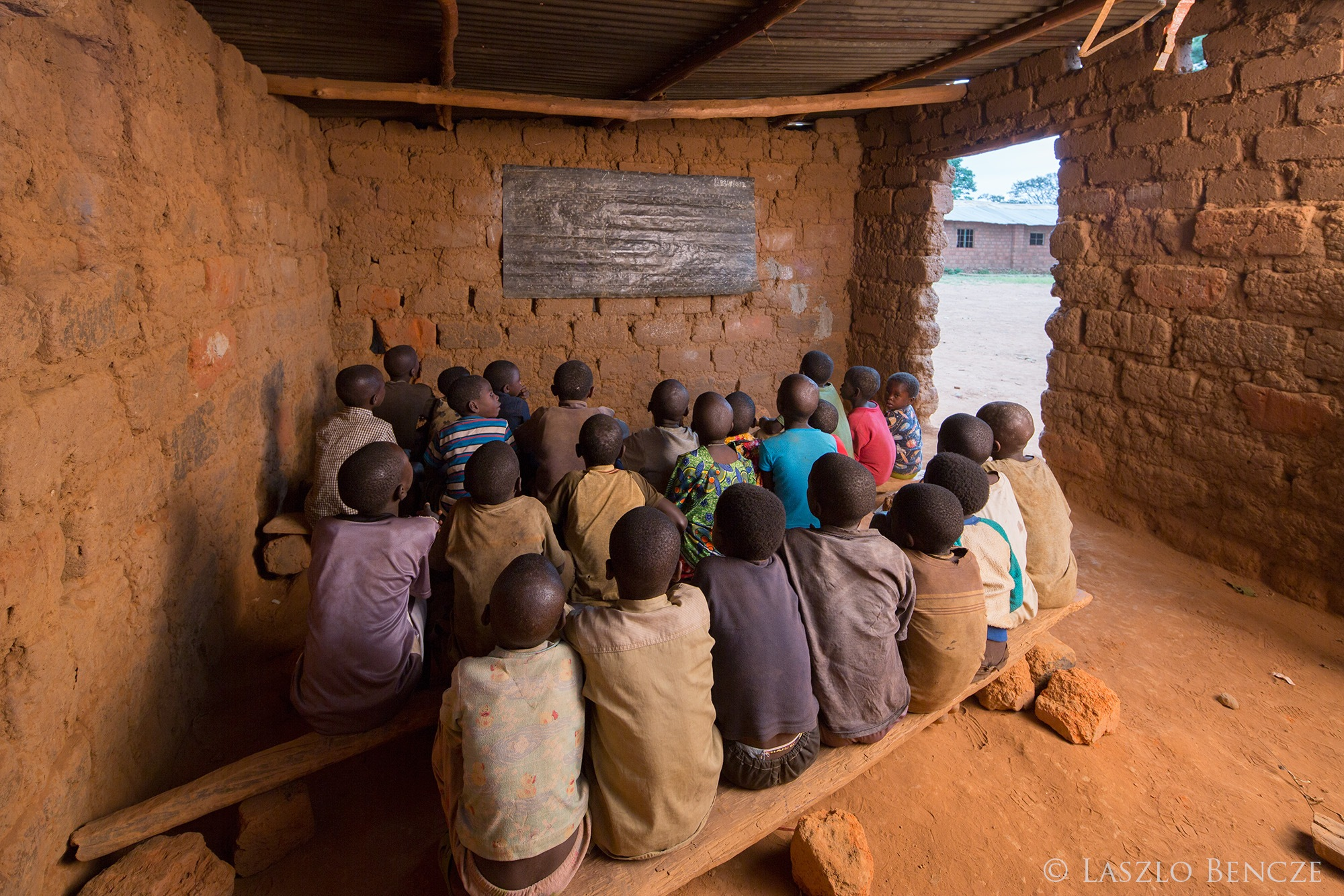 Traditional School Room, DRC (Congo) by Laszlo Bencze