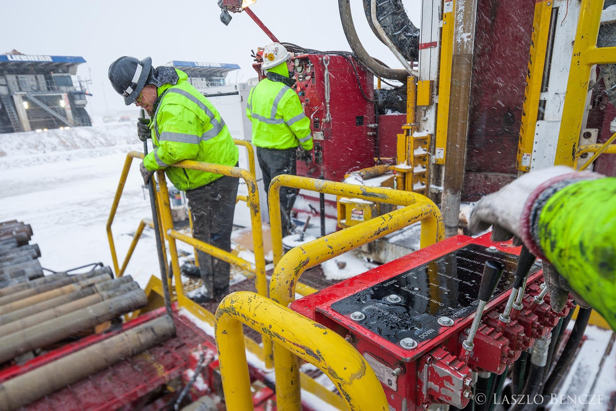 Winter Drilling by Laszlo Bencze