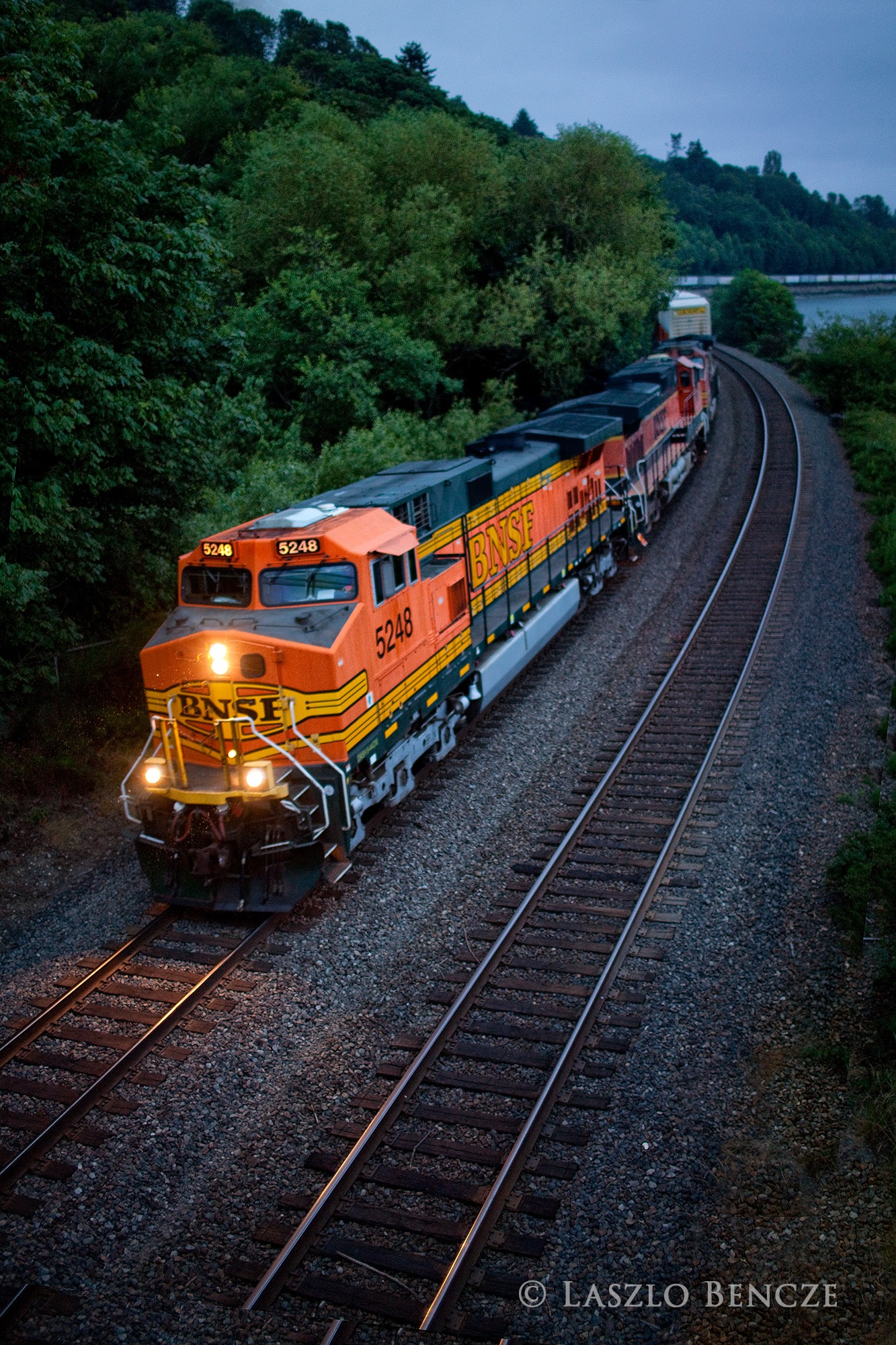 Train, Early Morning, North of Seattle by Laszlo Bencze
