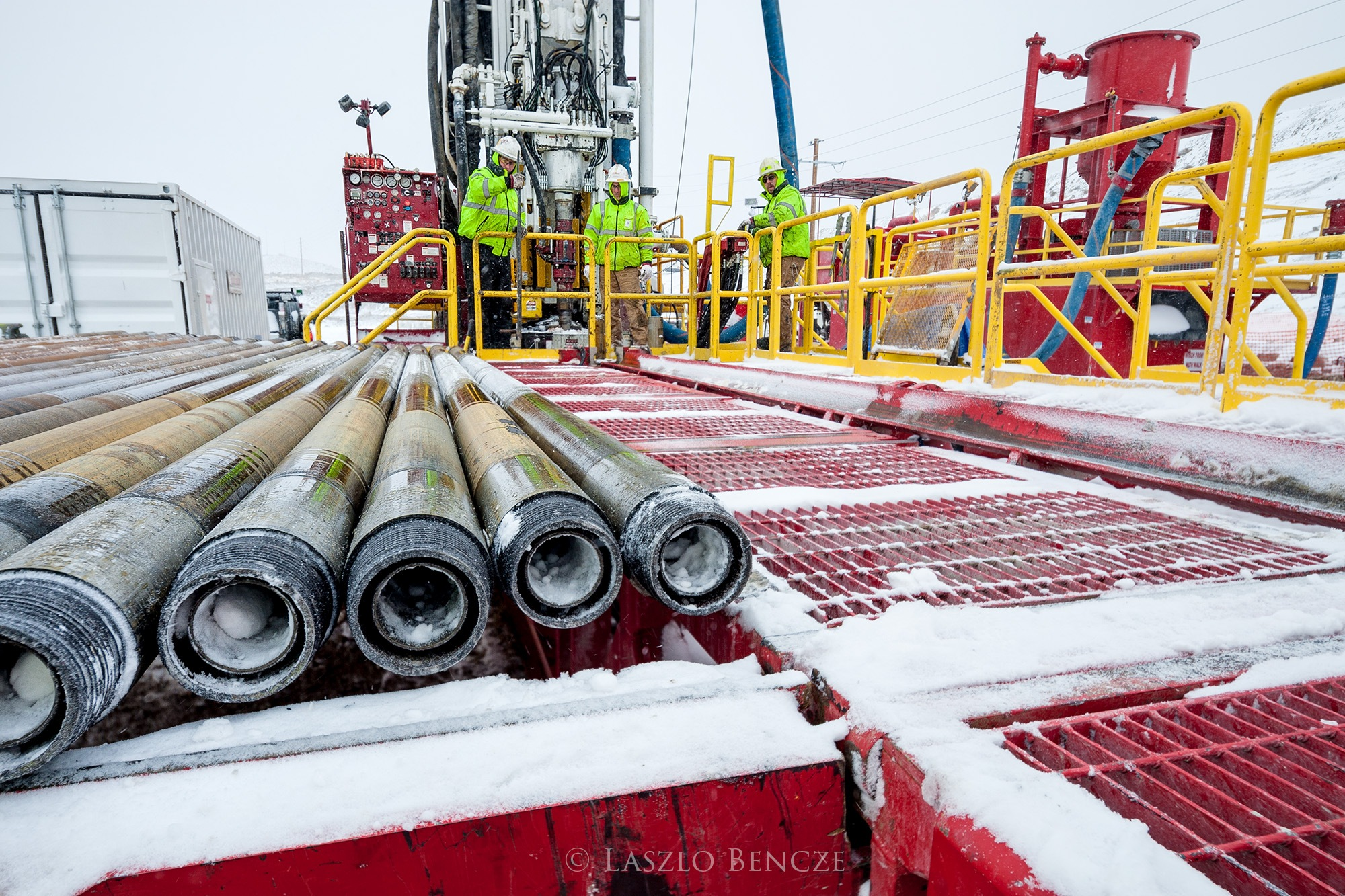 Drilling in Winter by Laszlo Bencze