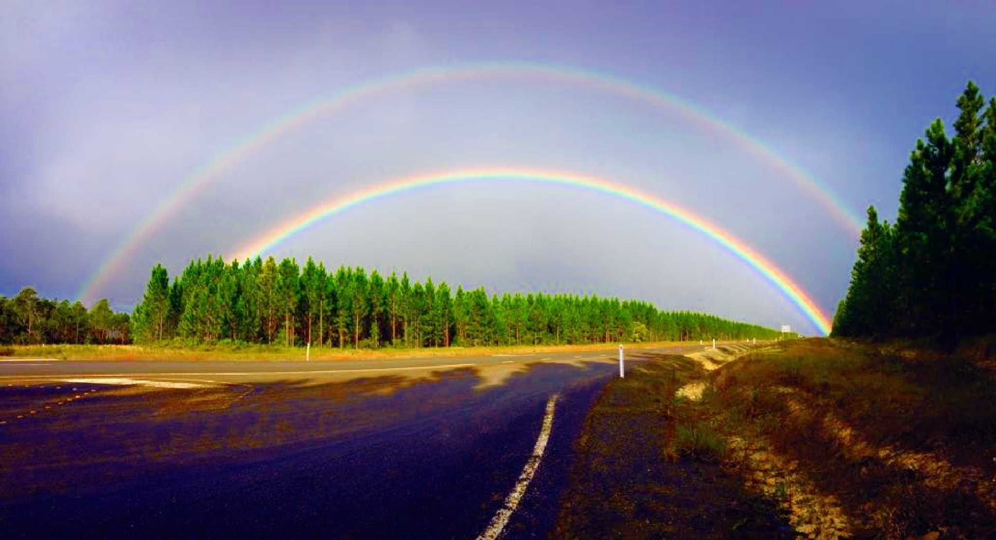 Double Rainbow by Jessa Diza