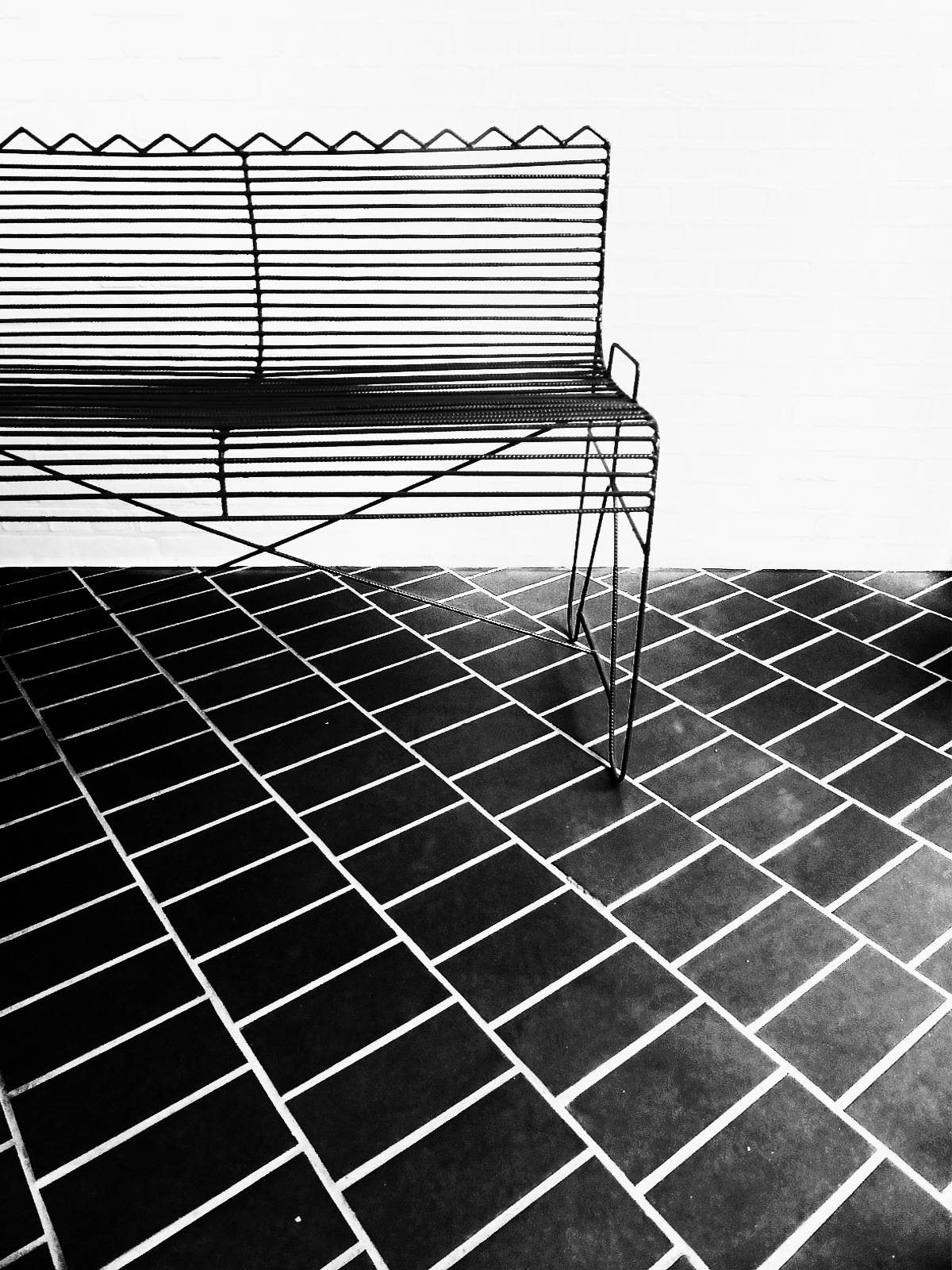 Bench with tiles by Gernot Schwarz