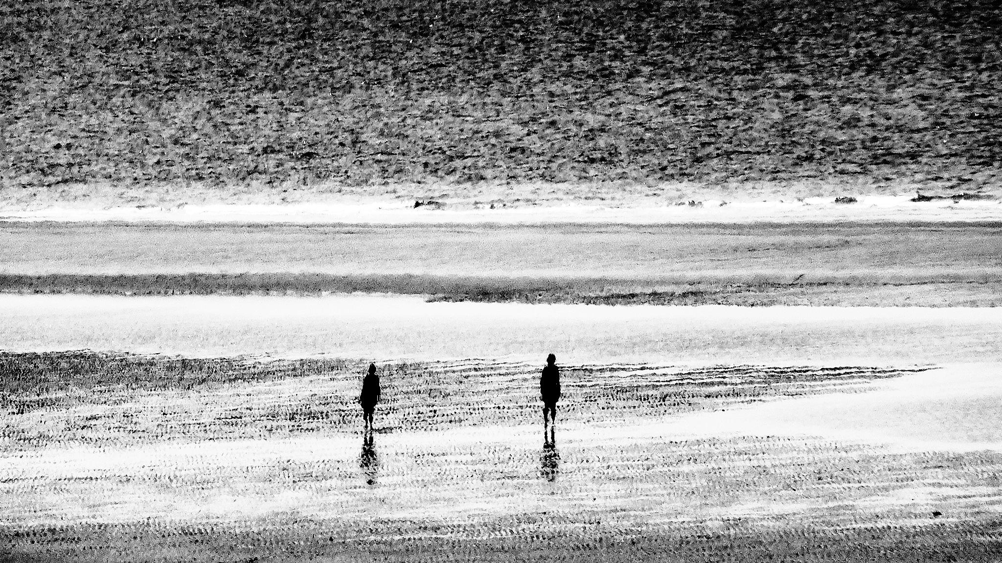 On the beach by Gernot Schwarz