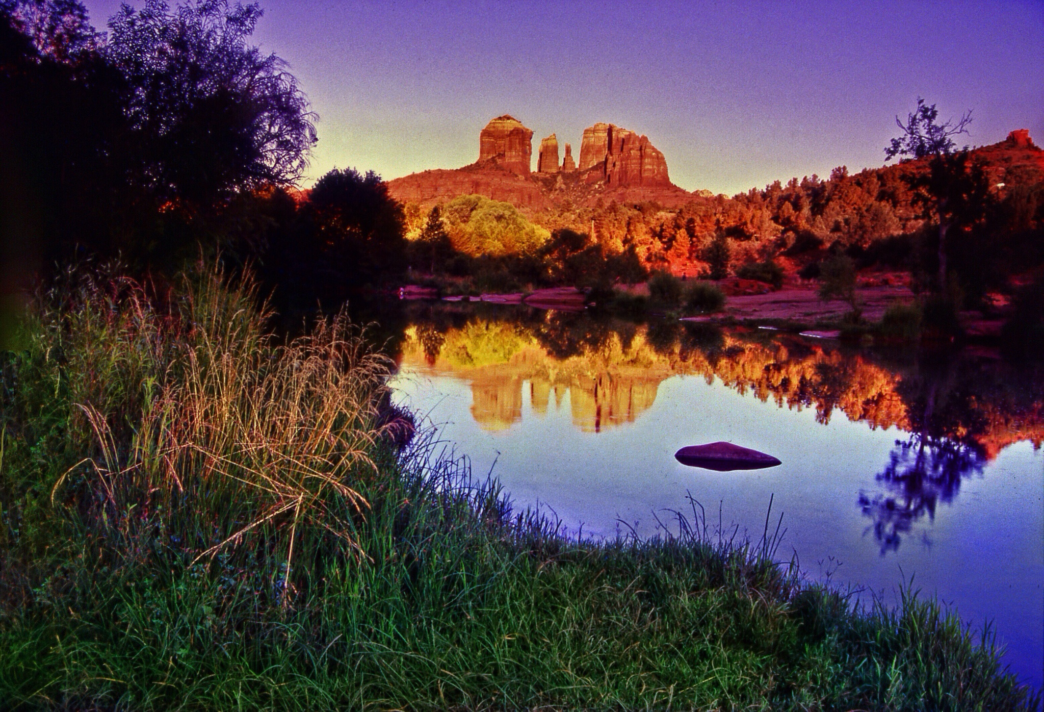 Photo in Landscape #sunset #sedona #nature #cathedralrock