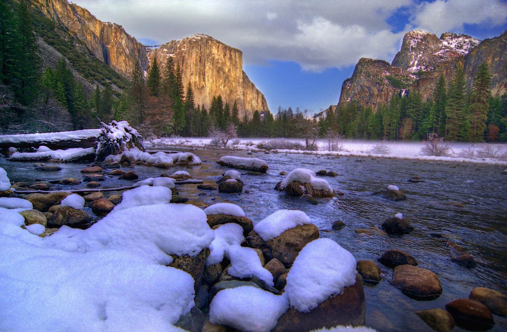 Yosemite in winter by Mark Teufel