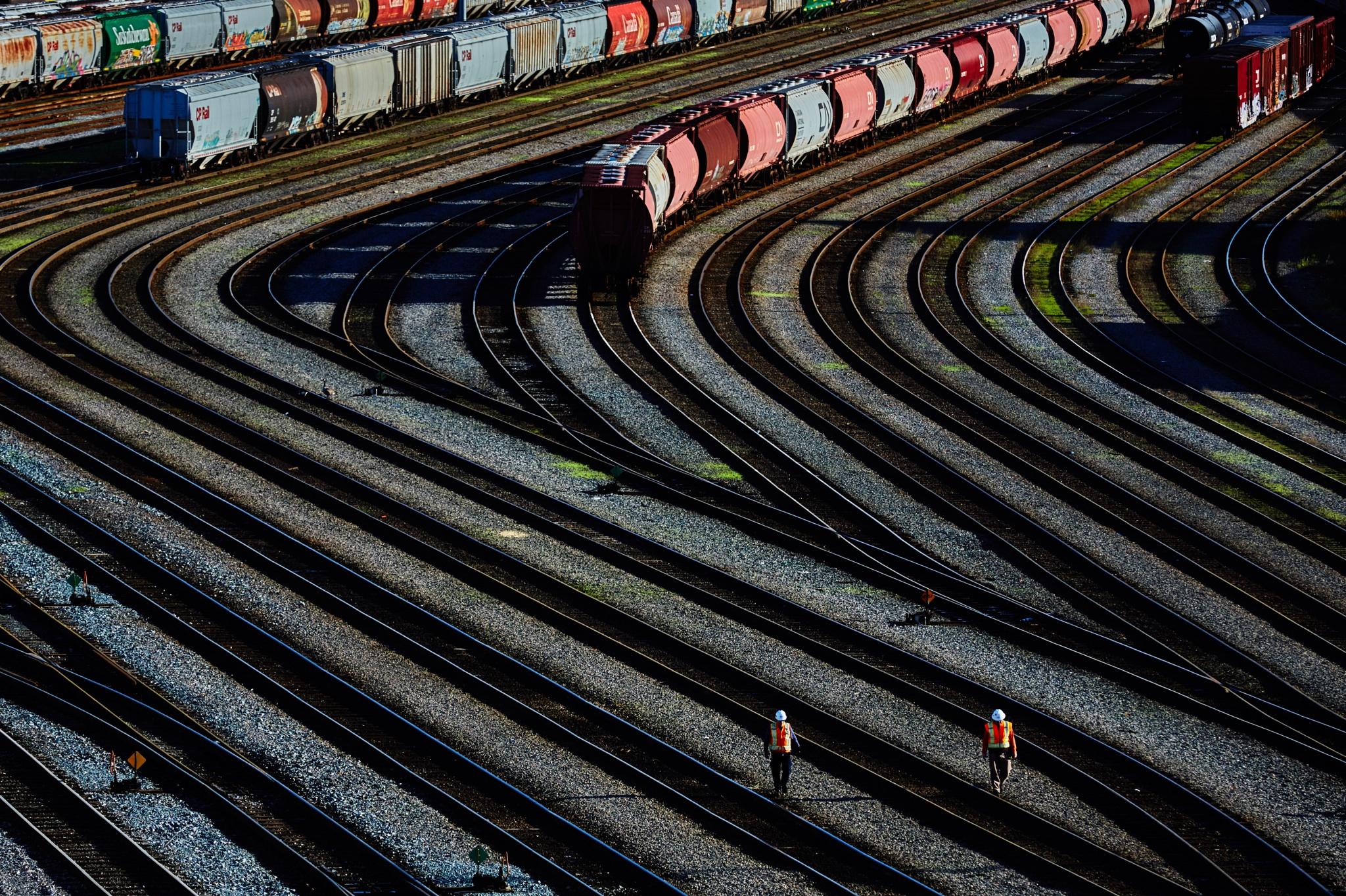 Rail yard by Greg Mullaly