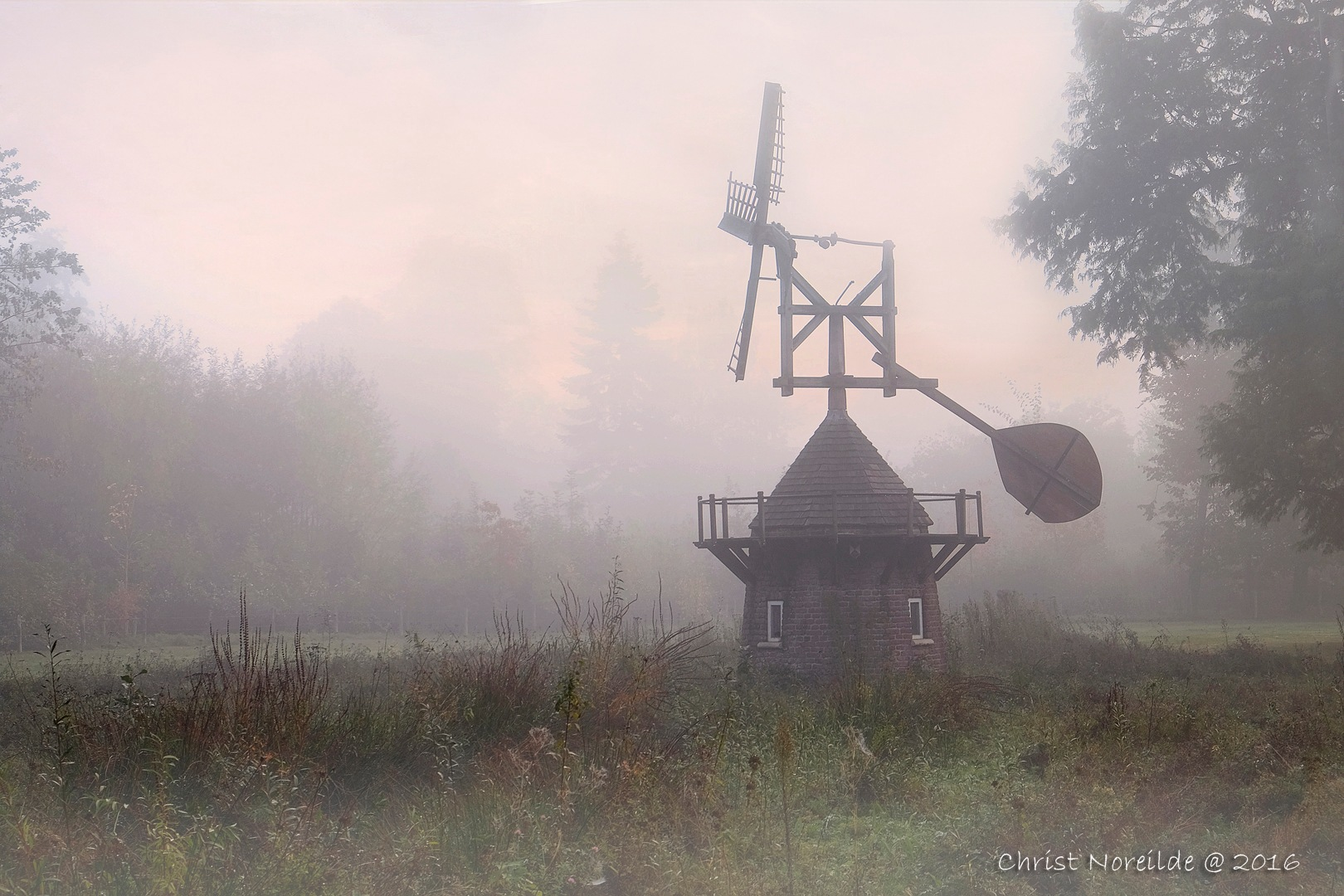 First foggy fall morning by Christ Noreilde