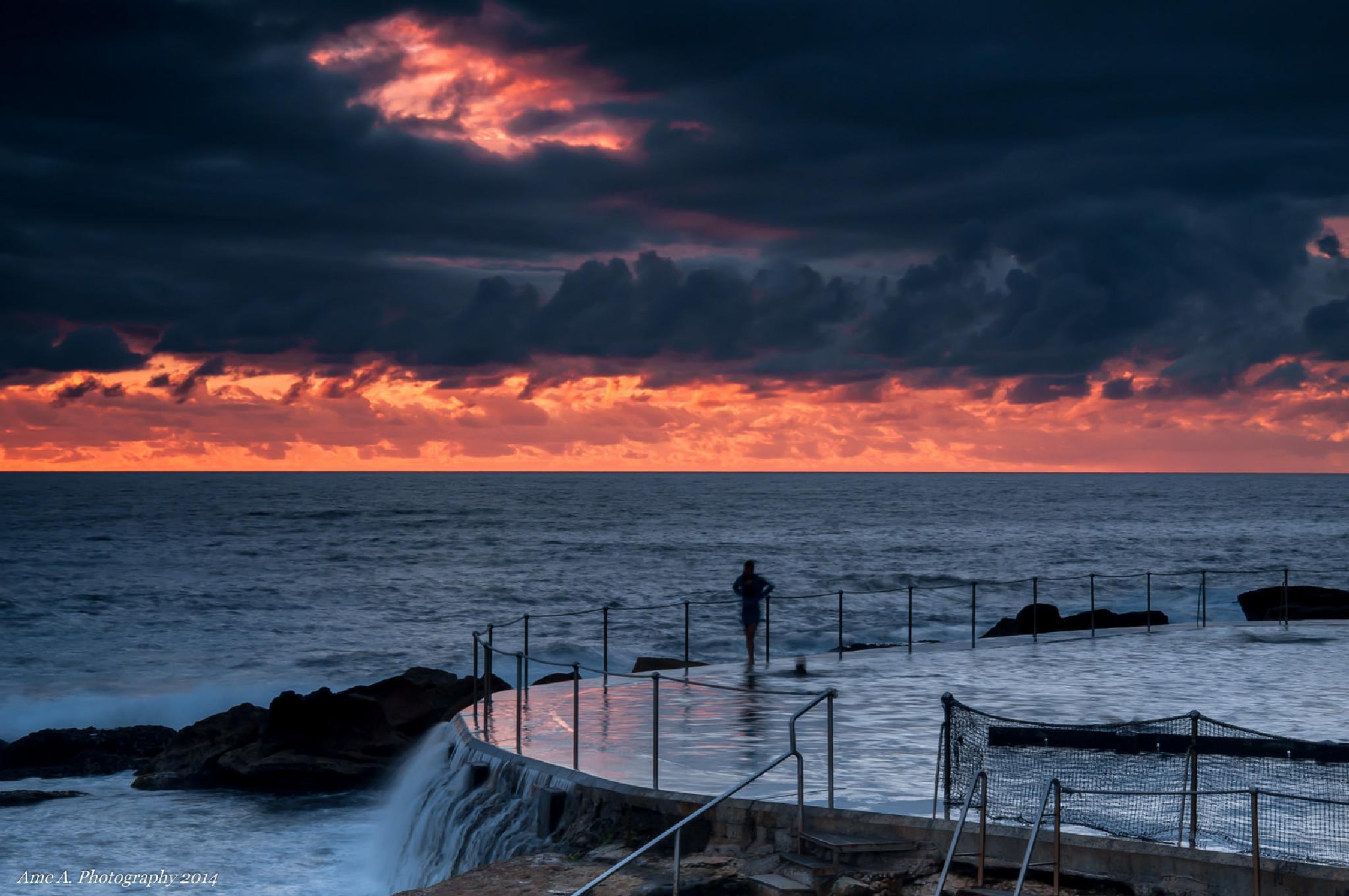 Sunrise: Bronte Baths by Argie Alvarez-Calibo