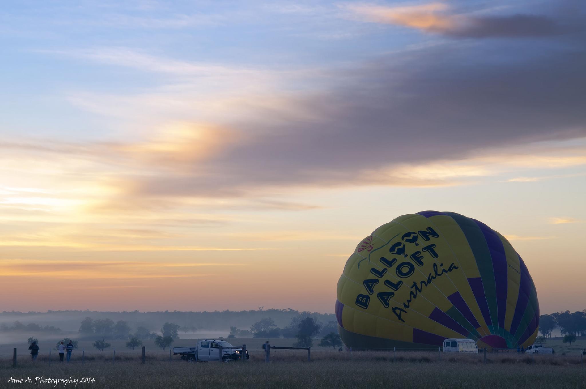 Foggy Sunrise: Singelton NSW by Argie Alvarez-Calibo
