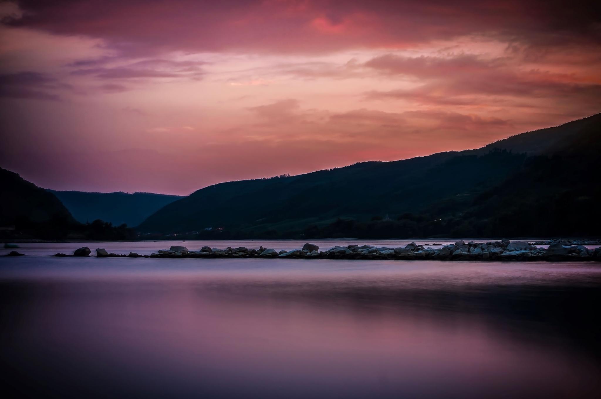 HDR Sunset  Donau 2 by LarsRoettigPhotography