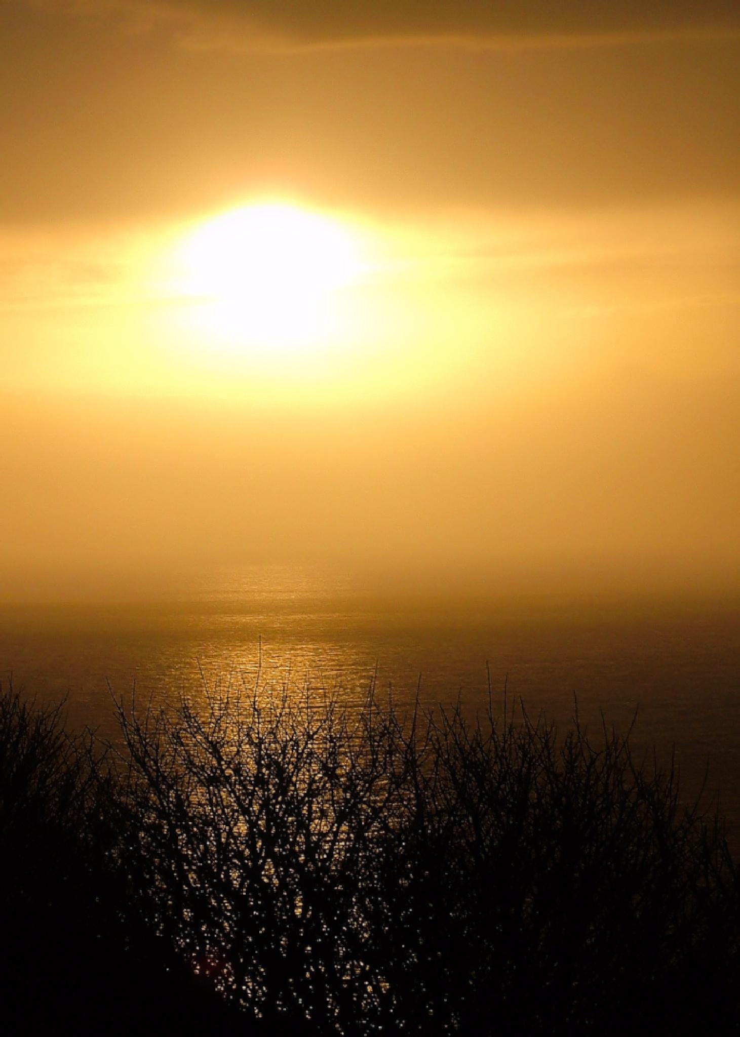 Setting Sun from Portland by Heppydog