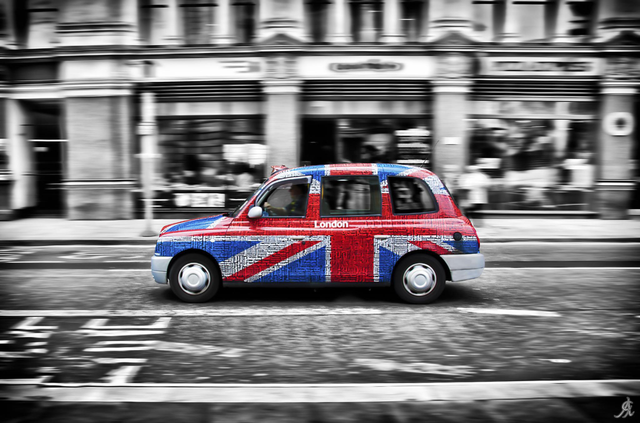 Flag_cab by Alessandro Giorgi Art Photography