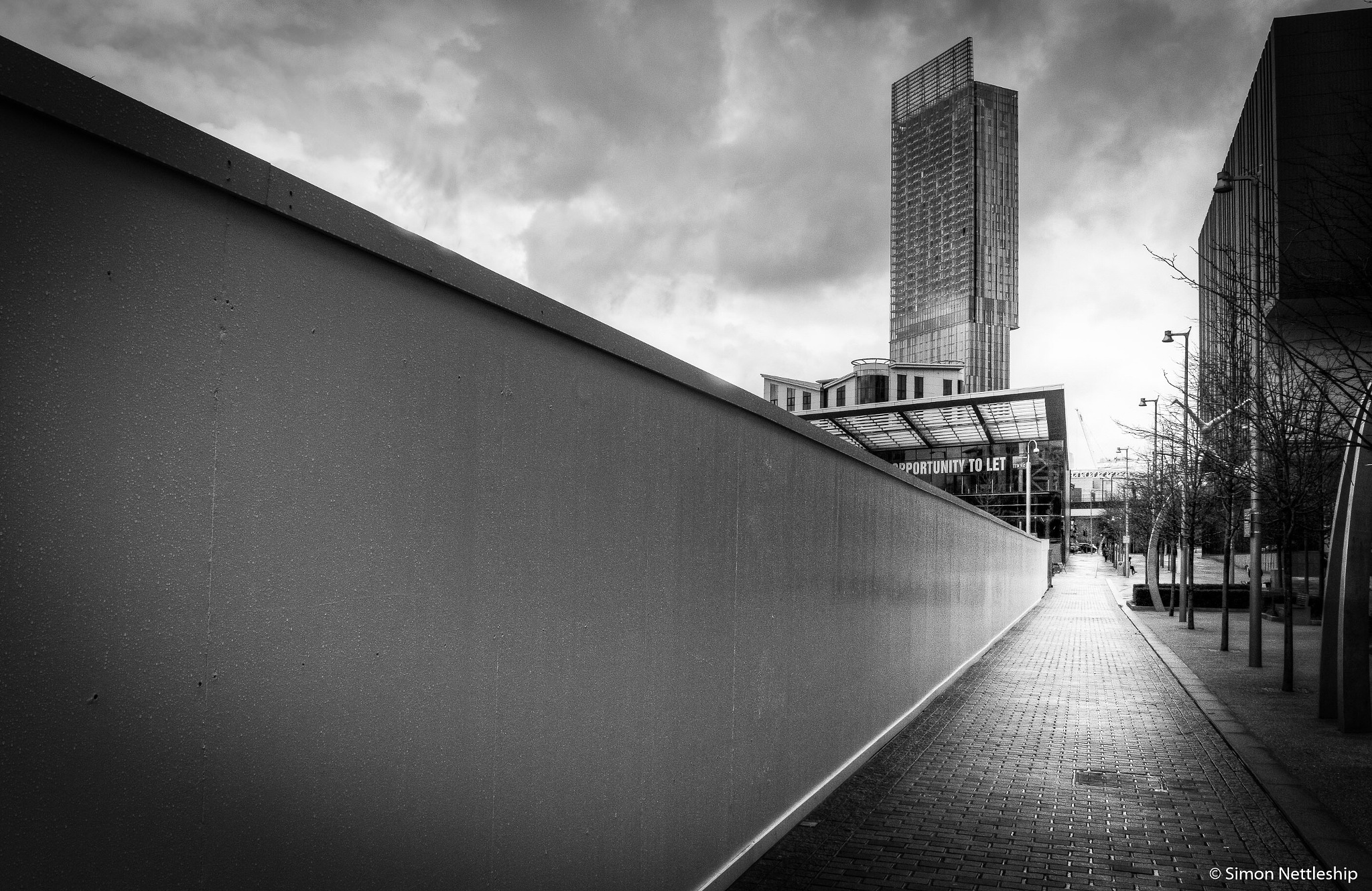 Black and white Manchester Deangate by Simon Nettleship Photography
