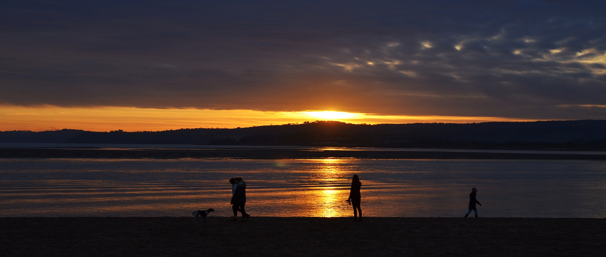 Sunset over the Exe Estuary by Pete Hussey