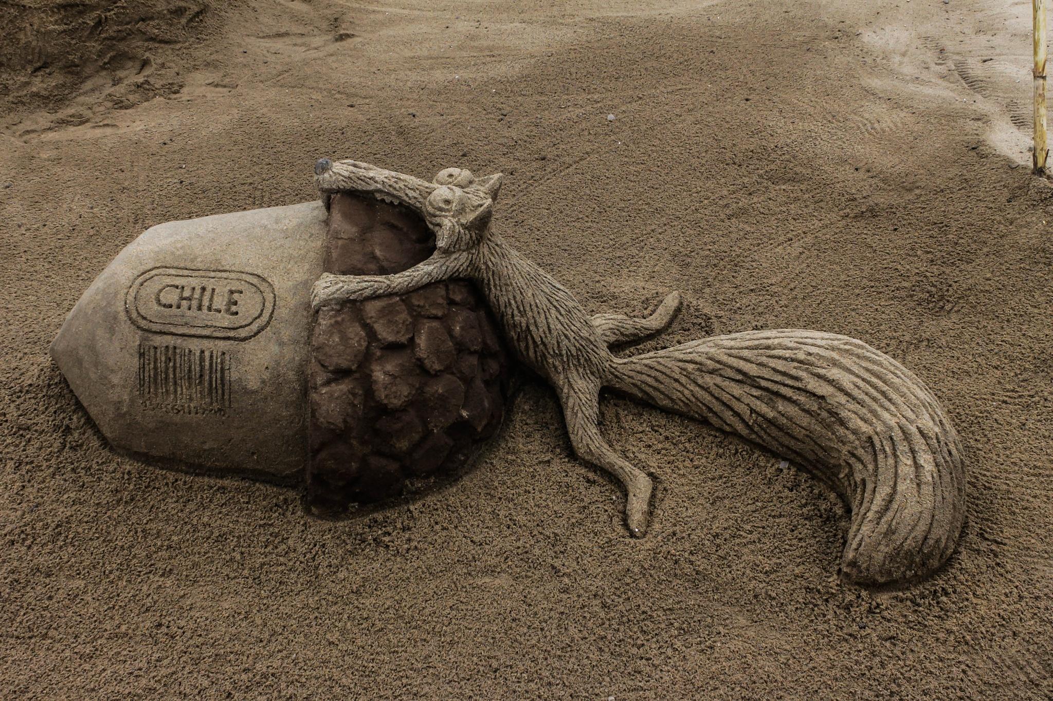 escultura en arena  by Luis Ardiles Ibarra