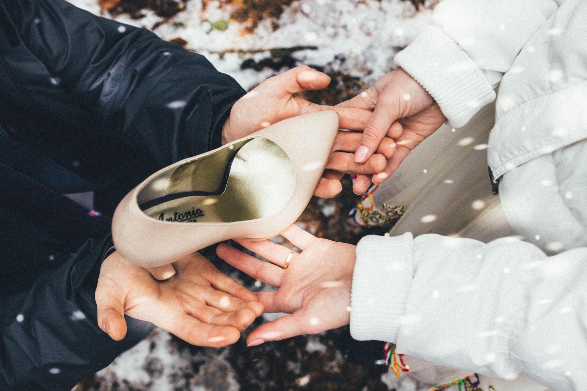 Photo in People #hands #bonding #emotion #woman #man #fingers #shoe #love